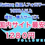 Twitter外国人フォロワー1000人増加・購入サービス